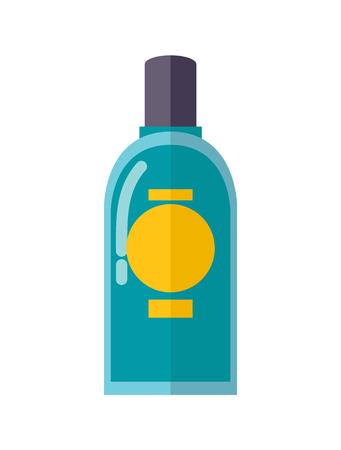 파란 입 린스의 투명한 플라스틱 병 스톡 콘텐츠 - 96588772