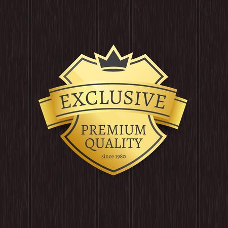 Exclusive premium quality golden crowned label.