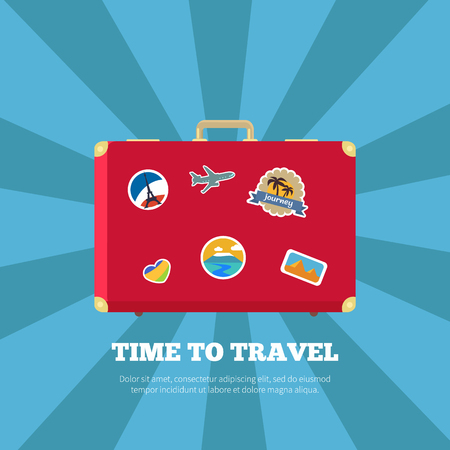 Time to Travel Journey Poster Vector Illustration