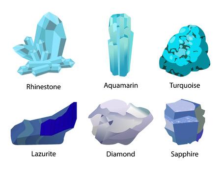 Rhinestone Aquamarine Turquoise Valuable Precious