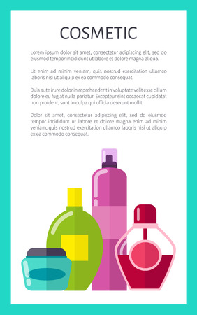 Liquid Cosmetic Means Vertical Promotional Banner Ilustrace