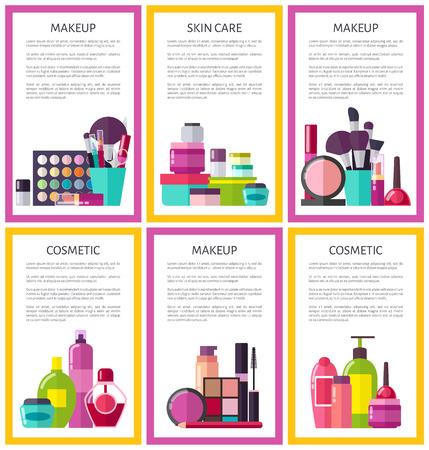 Make Up and Skin Care Set Vector Illustration Ilustracja