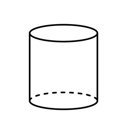 Cilindro negro Figura geométrica Proyección de forma