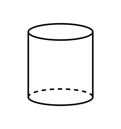 Black Cylinder Geometric Figure Shape Projection