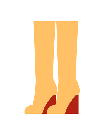 Boots at Clothing Store Poster Vector Illustration