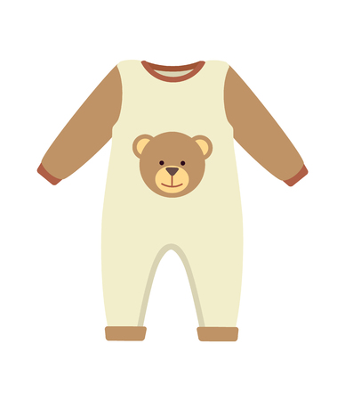 Baby Clothes Costume Poster Vector Illustration Illustration