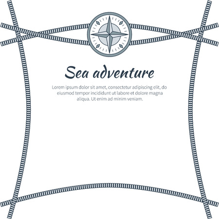 Sea Adventure Card Vector Illustration
