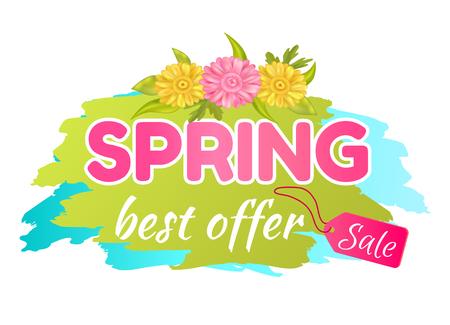 Best Offer Spring Sale Advertisement Daisy Flowers