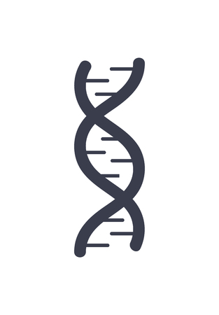 DNA Deoxyribonucleic Acid Chain Logo Design Icon Logo