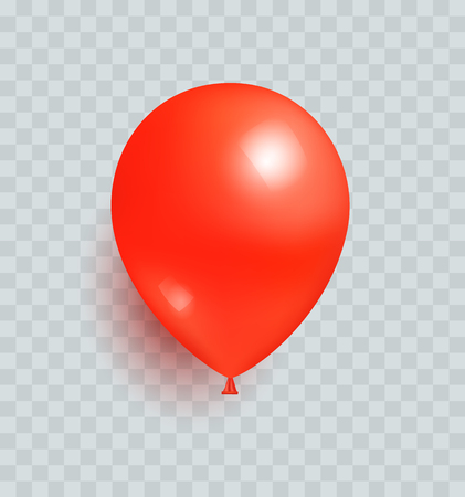 Balloon Red Color Realistic Design Vector Isolated Иллюстрация