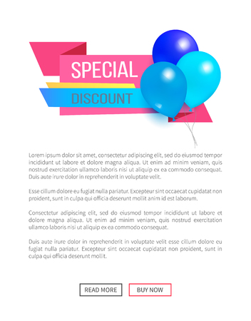 Special Discount Weekend Sale Best Balloons Label Vector illustration.