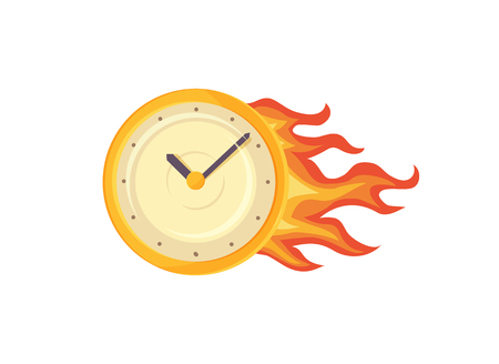 Time Management Clock Poster Vector Illustration 向量圖像