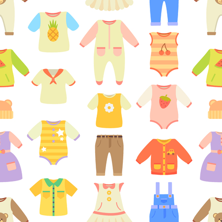 Baby Clothes Poster Pattern Vector Illustration