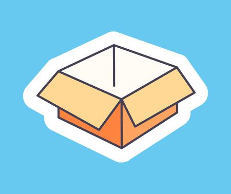 Open Empty Cardboard Box Isolated Illustration Stock Vector - 96612430