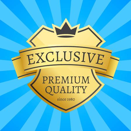 Dure Aanbieding Exclusieve Premiumkwaliteit sinds 1980 Vector illustratie.