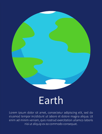 Blue Earth on Informative Poster with Sample Text