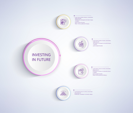 Investing in Future Infographic Poster with Wallet