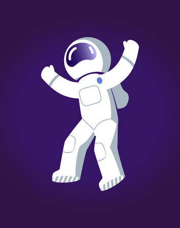 Astronaut in Space Poster Vector Illustration.