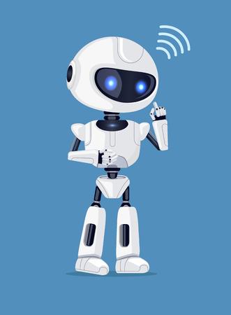 Robot and Connection Sign Vector Illustration Ilustração