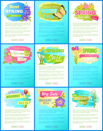 Collection Spring Big Sale Off Advertisement Label