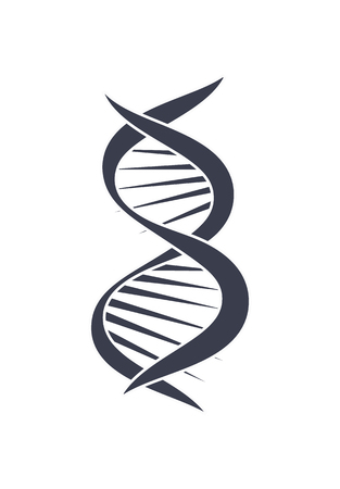 DNA Deoxyribonucleic Acid Chain Logo Design Icon