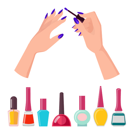 Fingernails and Polish Poster Vector Illustration