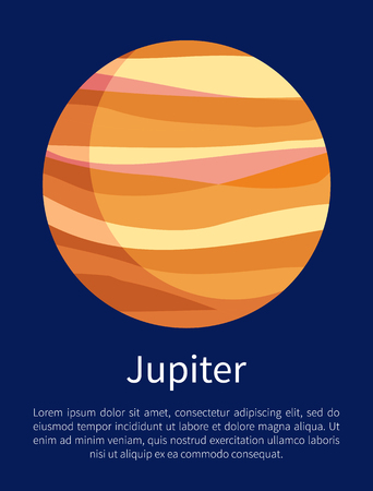 Jupiter Informative Vertical Poster with Text