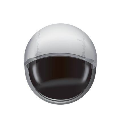 Helmet of Spacesuit Vector Illustration