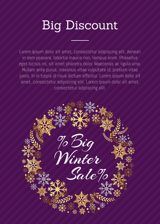 Big Discount Winter Sale PosterPlace for Text