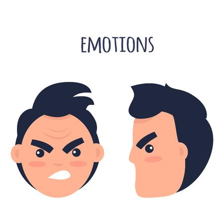 Man Negative Emotions Flat Vector Concept
