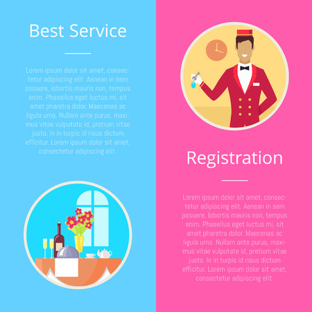 Registration for Best Service Vector Illustration Foto de archivo - 97554630