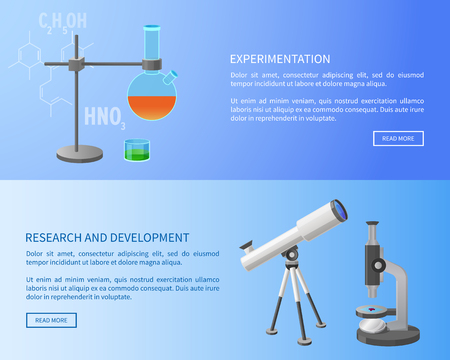 Experimentation Research and Development Web Vector illustration.