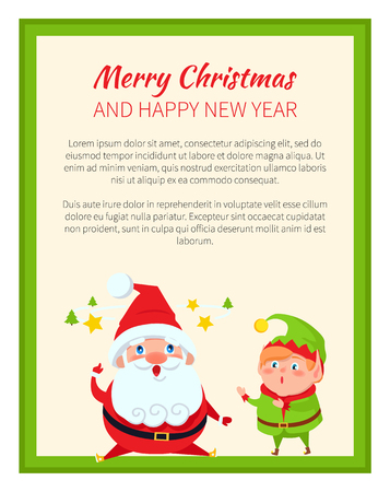 Merry Christmas and Wonders Vector Illustration Ilustrace