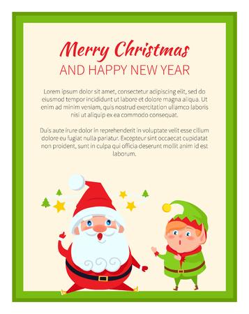 Merry Christmas and Wonders Vector Illustration Ilustração