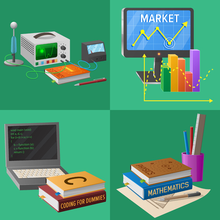 Devices for Educational Activities Illustrations Çizim