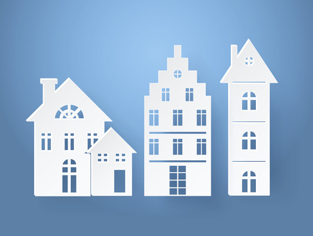 Paper Silhouettes of Buildings Vector Illustration Illustration