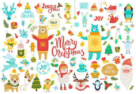 Merry Christmas Jingle Bells Vector Illustration