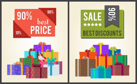 90 Best Price Sale Discounts Labels with Stickers