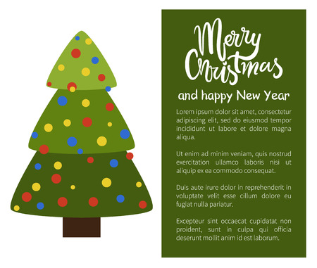 Merry Christmas and Happy New Year poster tree.