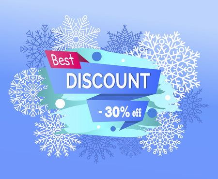 Best discount 30% off promotional poster snowflakes.