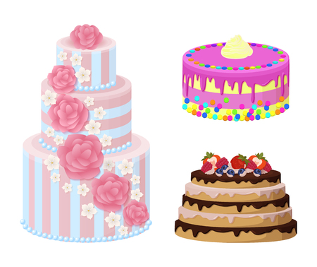 Sweet Bakery Collection Poster Vector Illustration. Ilustração