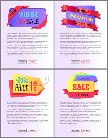 Sale special offer order now web poster with push buttons read more and buy now. Vector illustration advertisement banner with info about discounts