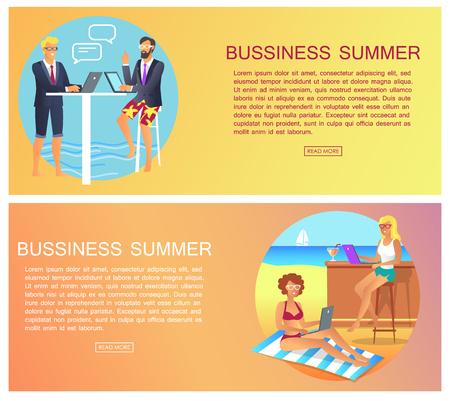 Business Summer Collection Vector Illustration design.