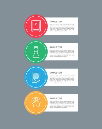 Infographic Elements Circular Vector Illustration Illustration