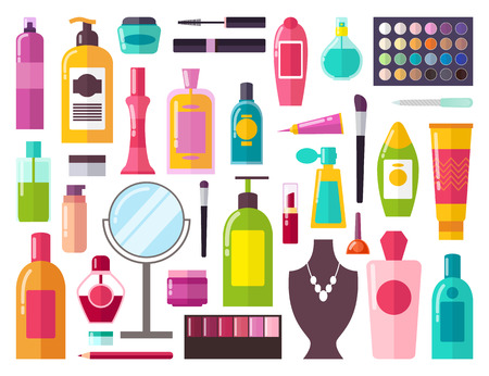 Make Up Collection of Items Vector Illustration Banque d'images - 98878574
