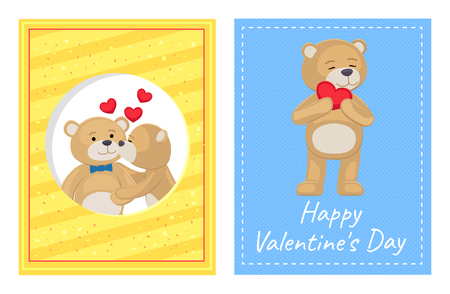 I Love You and Me Teddy Bears Vector illustration Banque d'images - 98878589