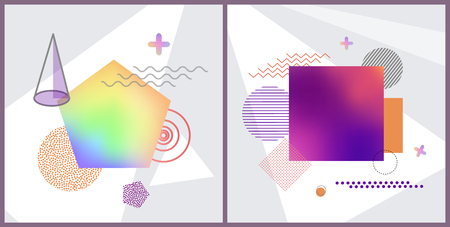 Set of Abstract Poster on Vector Illustration Imagens - 99738764