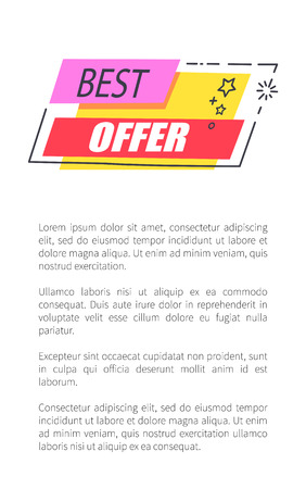 Best Offer with Convenient Prices Promo Poster Stockfoto - 100057720