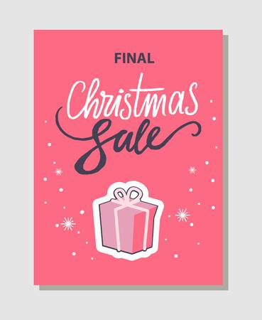 Final Christmas Sale Pink Vector Illustration