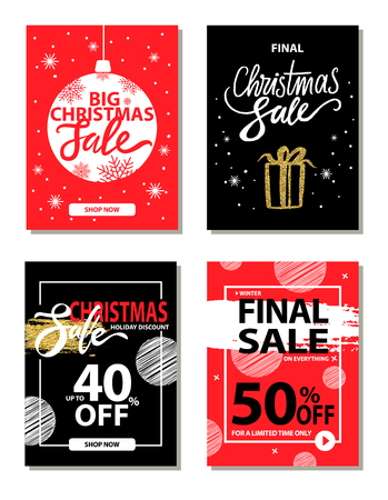 Winter Sale on Everything on Vector Illustration